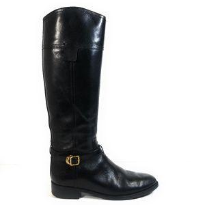 Tory Burch Women Riding Tall Knee  Buckle Boots 8